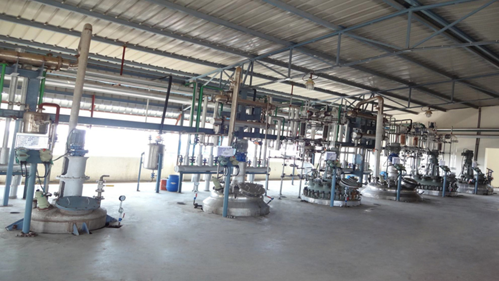 6 reactors at the loading area of manufacturing facilities