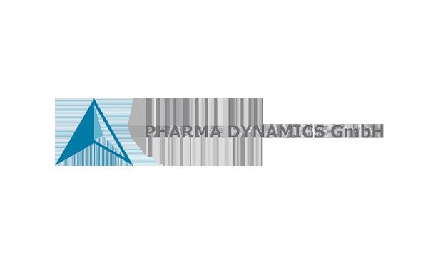 logo of PHARMA DYNAMICS GmbH with arrow head