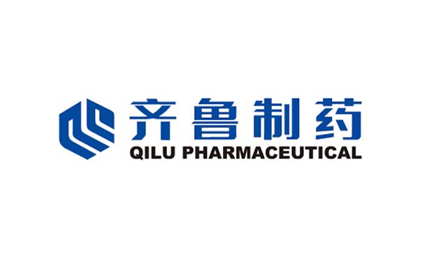 Logo of Qilu Pharmaceutical 齐鲁制药 & two blue clips