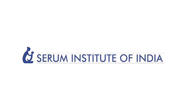 Logo of serum Institute of India with mother and baby son