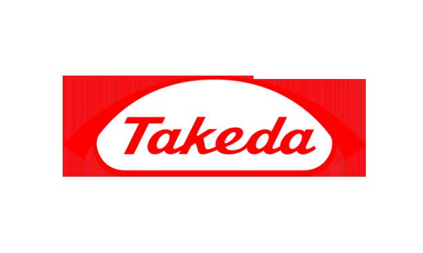Logo of takeda in red color