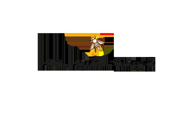 Logo of Antica Apicoltura Scarinzi S.r.l. with bee feeding on honey