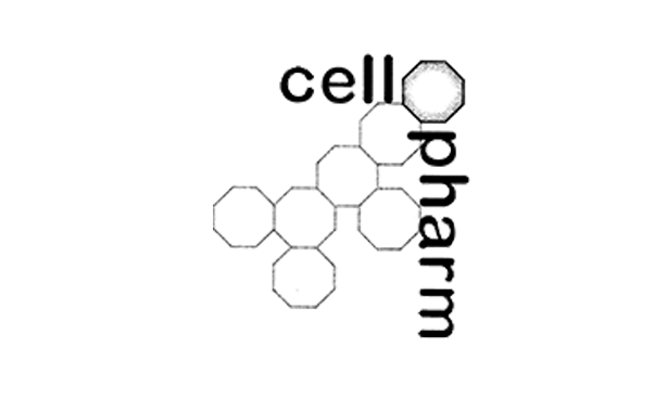 Logo of cellpharm with molecular structure